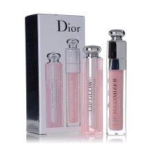 Dior迪奥口红套装 粉漾魅惑润唇膏3.5g +丰唇蜜唇彩6ml礼盒