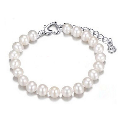 月印百川 淡水珍珠手链 强光泽简约可调节手串