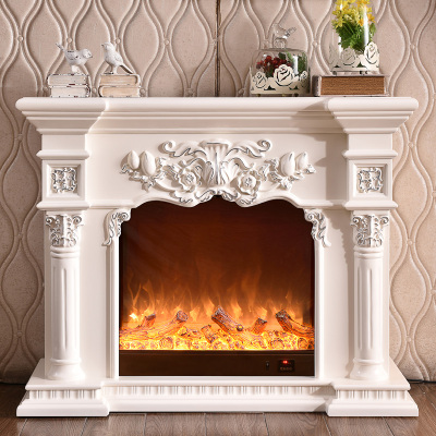 帝軒名典 1/1.2/1.5米歐式壁爐架 實木美式電壁爐 裝飾白色電視壁爐