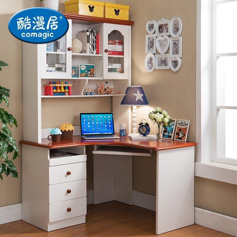 酷漫居儿童成套家具卧室组合 儿童床衣柜床头柜书桌家具 美式经典四