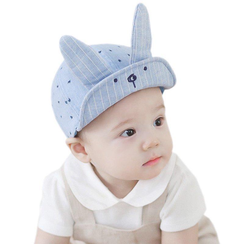 贝迪牛立体可爱兔耳朵翻边儿童帽子
