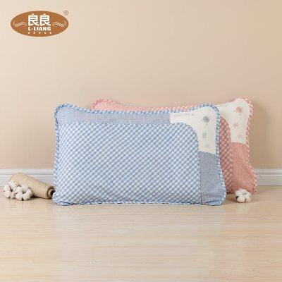 良良 学生枕 7-12-16岁小枕头枕芯带枕套护颈枕单人一只装护颈椎