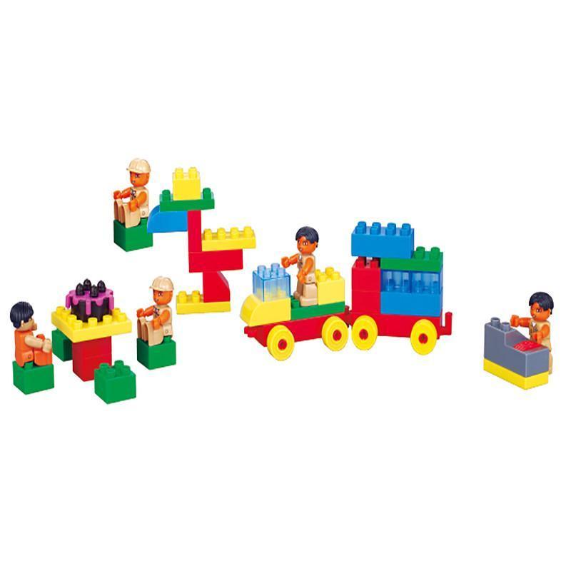 海鹏达 大颗粒拼插积木 乐高式拼装积木 abs塑料 儿童