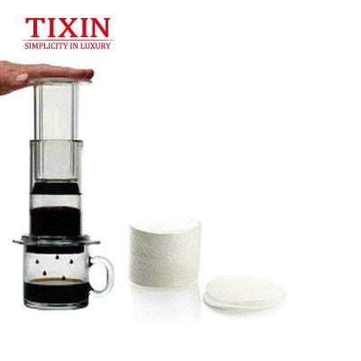 TIXIN/梯信 美国爱乐压咖啡压滤器专用滤纸 咖啡过滤纸350片 圆形