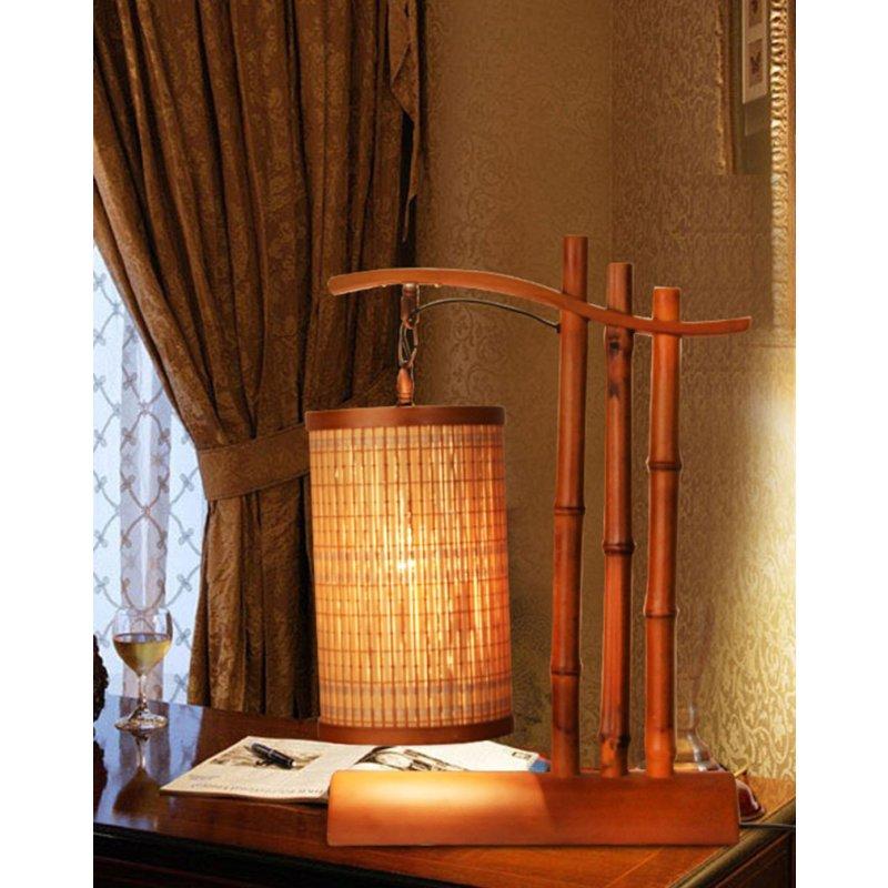 竹编灯 工艺个性书房卧室床头灯