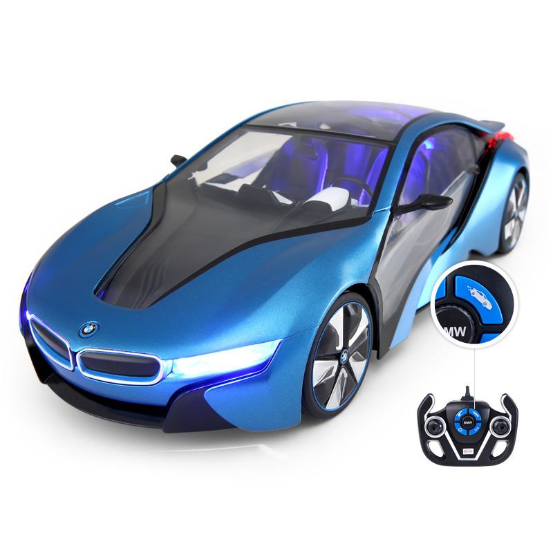 星辉rastar宝马i8遥控车充电遥控飞机车模套装遥控玩具儿童耐摔直升机