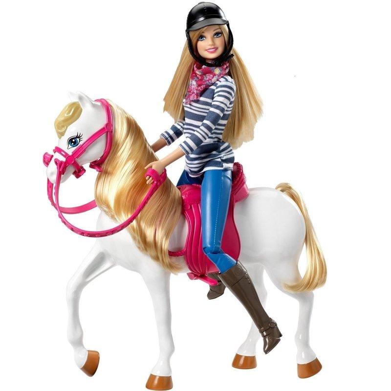 正品barbie芭比娃娃 芭比和她的可爱小马
