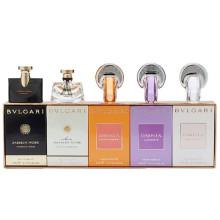 宝格丽(BVLGARI) 女士Q版香水5件套小样礼盒 5ml (夜茉莉 水漾夜茉莉 紫晶 净莹 晶灿)