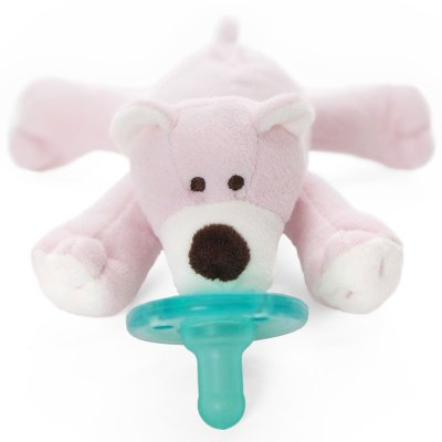 wubbanub 婴幼儿 可爱萌宠安全硅胶安抚奶嘴 32428 粉红小熊玩偶 美国