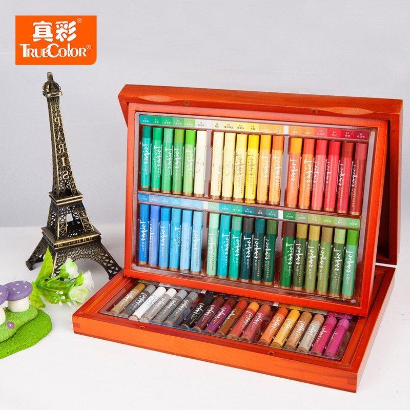 真彩水溶性油画棒72色 无毒画画笔蜡笔 儿童涂鸦笔 绘画笔 2099