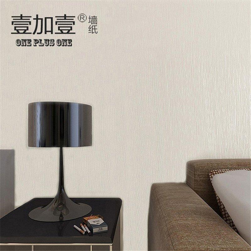 壹加壹环保墙纸 防潮防水简约客厅电视背景墙 纯色竖纹立体壁纸