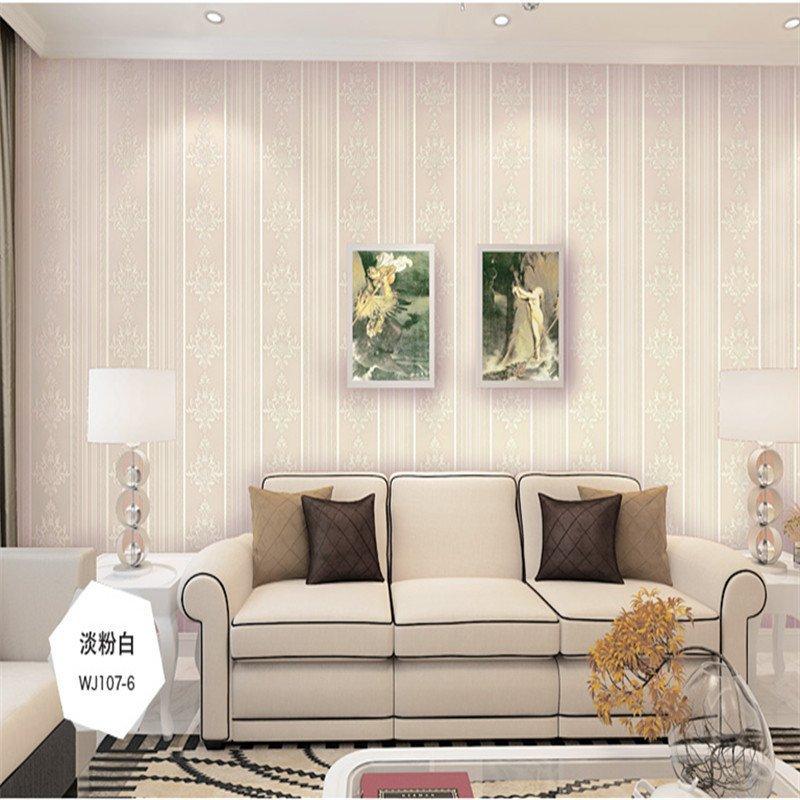 欧式风情竖条环保无纺布墙纸 客厅卧室电视背景墙墙纸