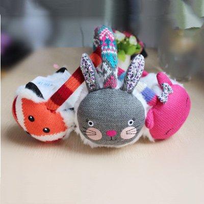 喜安贝 儿童耳罩通用耳暖男女宝宝保暖针织耳包动物针织刺绣耳套可
