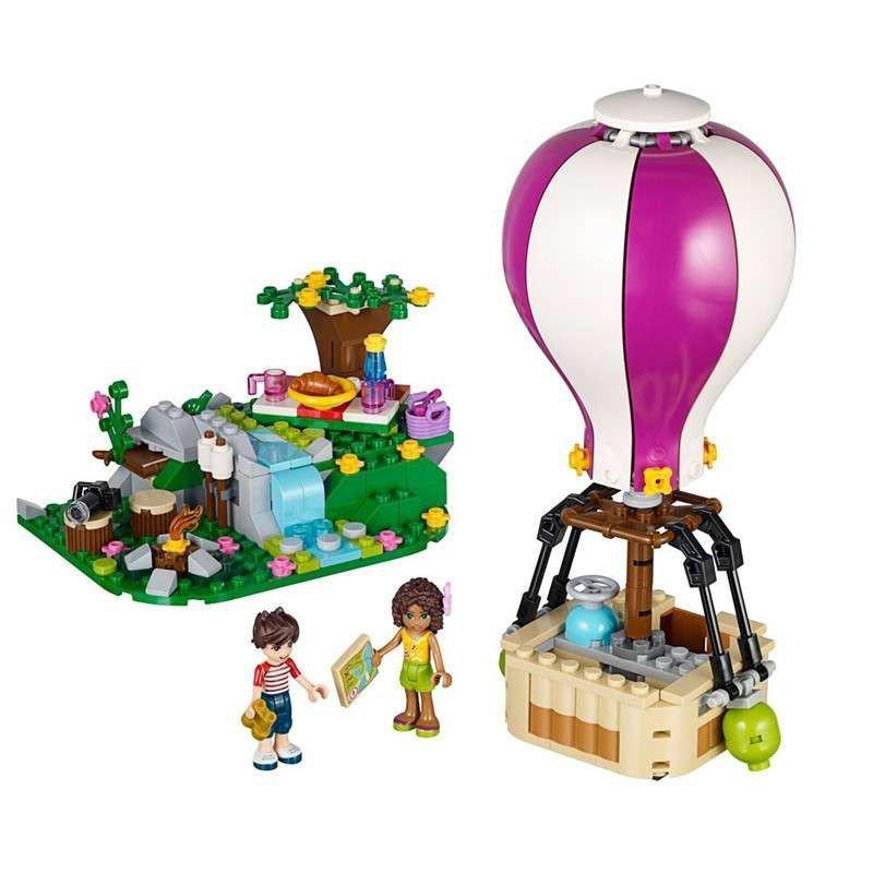 乐高lego 女孩friends系列 41097 心湖城热气球 l41097 益智积木玩具