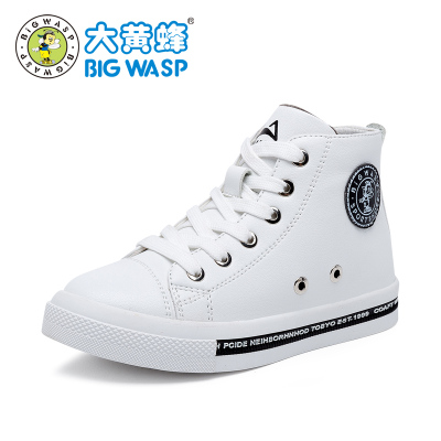 大黄蜂童鞋 18年冬季新款男童运动鞋 女童皮鞋休闲款韩版潮6-12岁