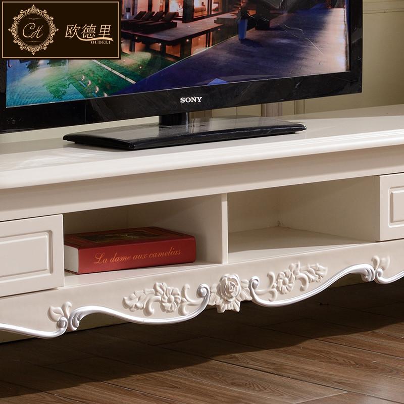 欧德里现代韩式电视柜仿古白欧式田园电视桌客厅电视机柜