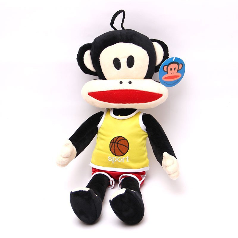 宝诚达 可爱运动款大嘴猴毛绒玩具 大号猴子公仔玩偶抱枕生日礼物