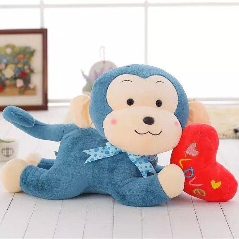 啵啵糖 超萌可爱抱心趴猴毛绒玩具爱心小猴子公仔娃娃