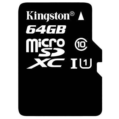 金士頓(Kingston)64GB高速CLASS 10手機內存卡(MicroSD)TF卡平板高速存儲卡華為vivosd卡