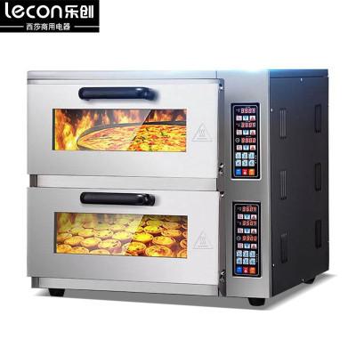 lecon/乐创大型面包烤炉 二层二盘双层商用烤箱蛋糕面包披萨蛋挞烘炉设备微电脑多功能 电烤箱容量大