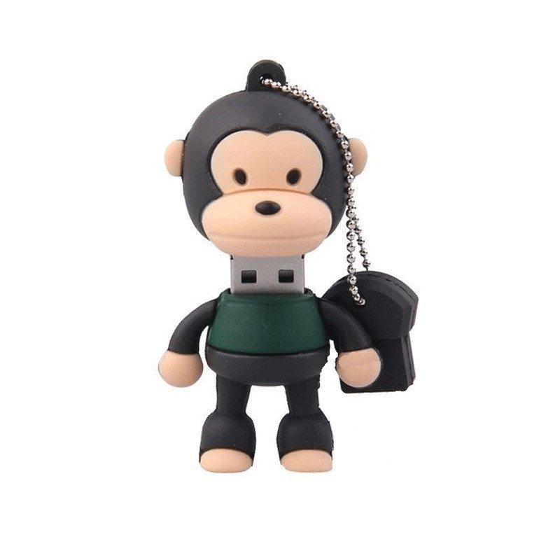 绎美 创意礼品 卡通小猴子u盘 创意数码卡通嘻嘻猴优盘 可爱萌萌猴u盘
