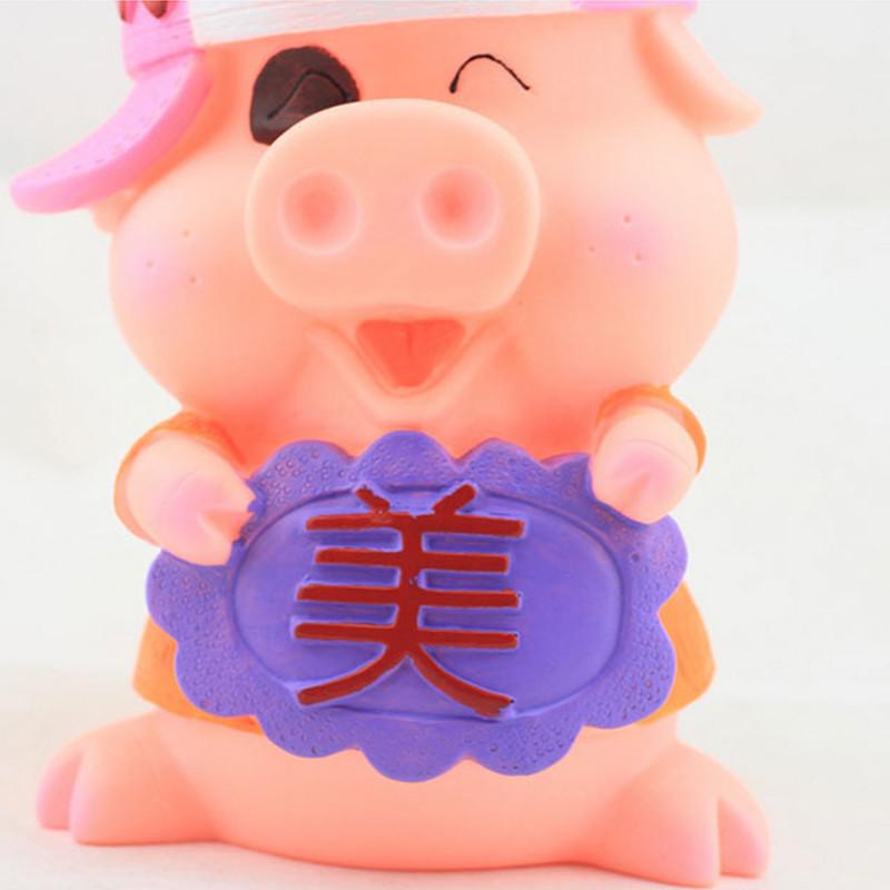 绎美 创意存钱罐礼品 搪胶pvc不怕摔美帅猪公猪婆存钱