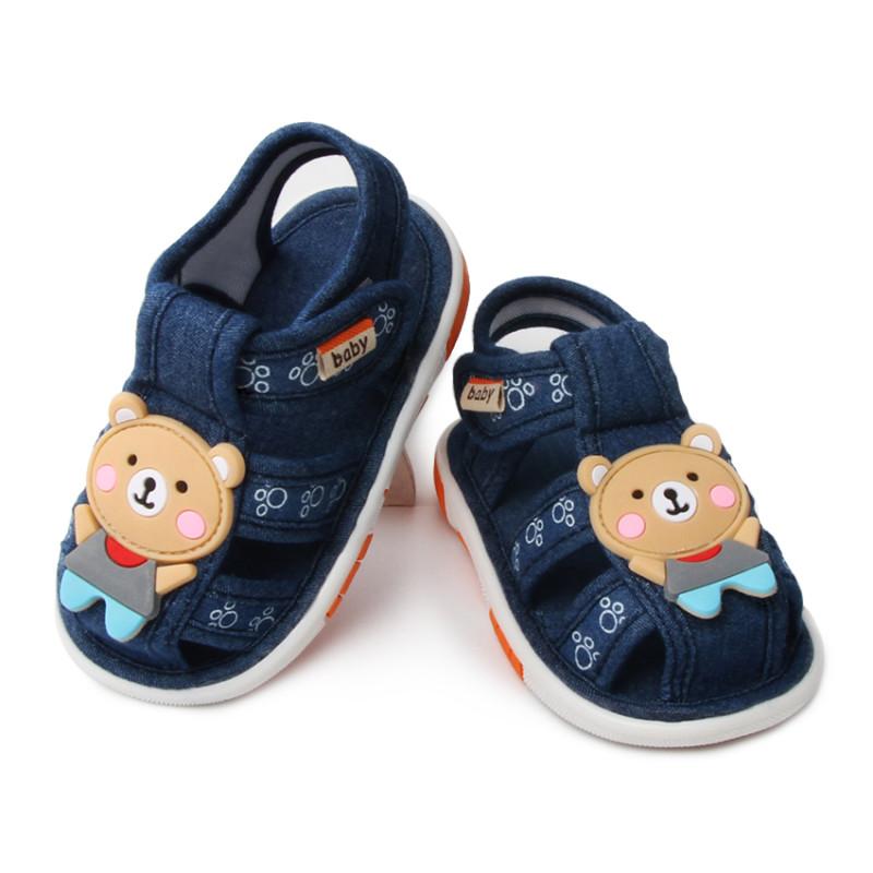 宾果鸭 0-3岁宝宝可爱学步鞋 小熊
