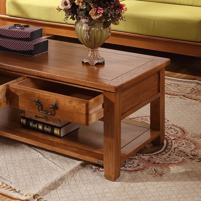 万德美家具 纯实木茶几 白橡木茶几 咖啡桌 炕几 麻将