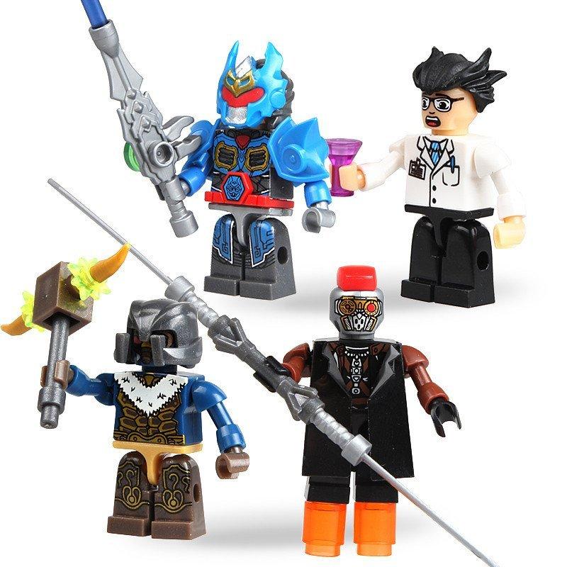 奥迪双钻kreo铠甲勇士积木捕将拼装儿童玩具武装铠甲