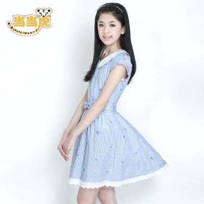 女大童女装夏款连衣裙 女孩夏装裙子12-13-15岁初中生