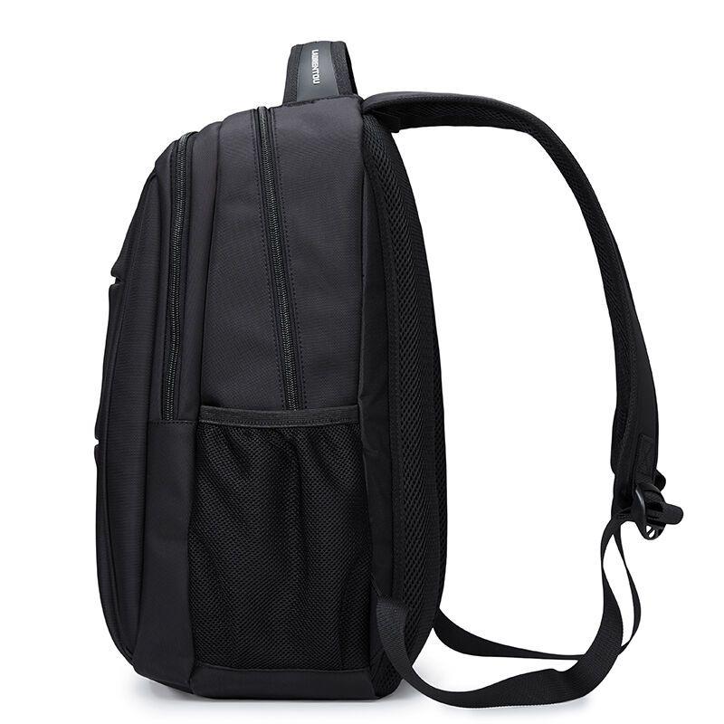 老人头男士双肩包 简约英伦旅行背包中学生书包 多功能大容量电脑包