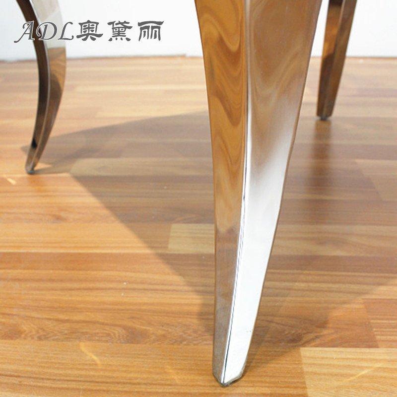 adl/奥黛丽 欧式餐椅新古典法式餐桌凳高档不锈钢餐厅椅子时尚软包