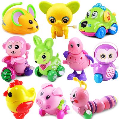 速翔發條玩具上鏈動物玩具車嬰兒寶寶兒童益智小玩具1-3歲 16件不同款式隨機