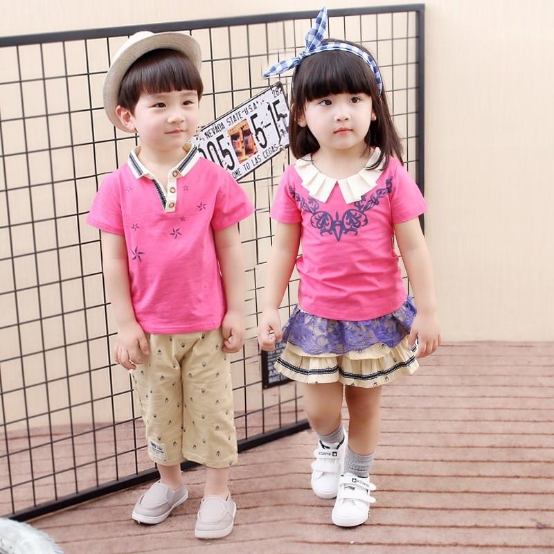烧碱园园服套装2017新款夏装幼儿小学生夏季儿童杭州图片
