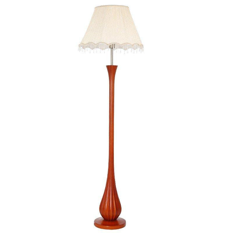 子兰灯饰新中式客厅装饰落地灯欧式复古简约创意书房卧室树脂红木色