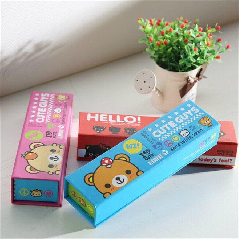 文博韩版创意铅笔盒男文具盒小学生笔盒女卡通动物笔盒小号zw20