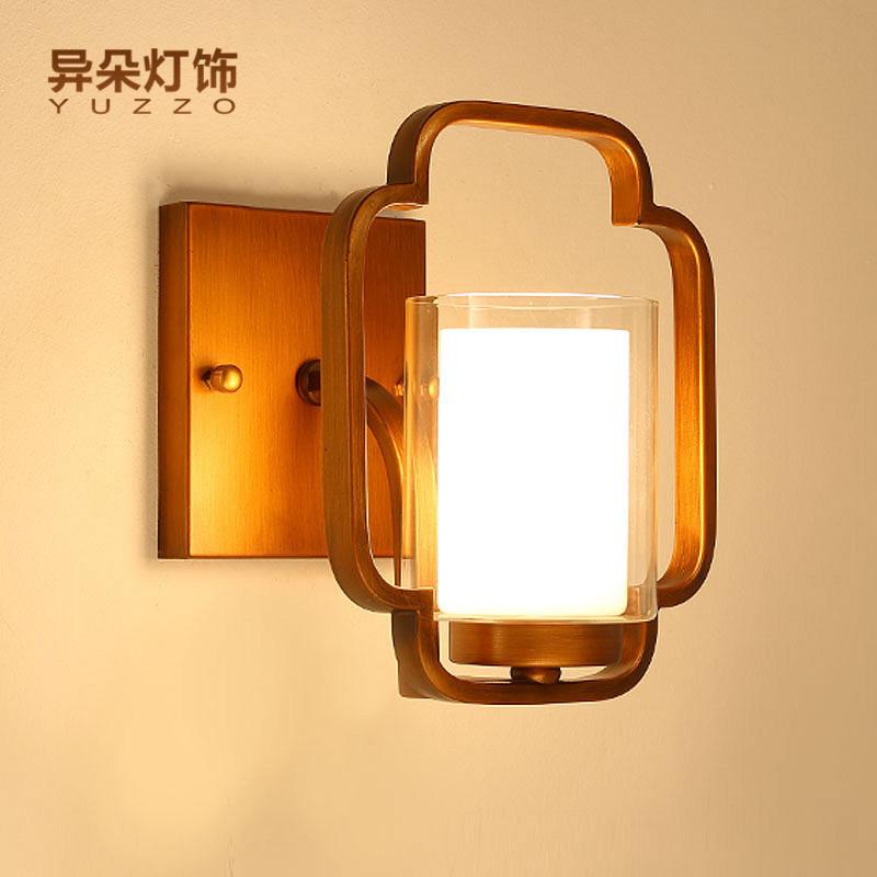 异朵 现代新中式壁灯 卧室床头客厅墙壁过道走廊中式壁灯88256