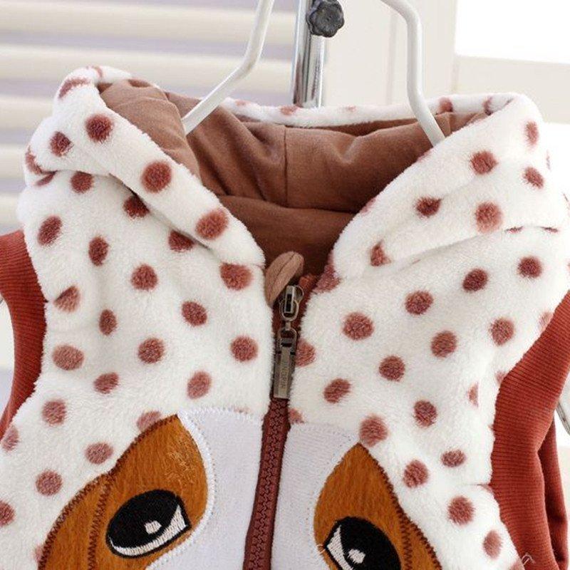 童趣熊 宝宝保暖马甲 童珊瑚绒可爱小狗儿童马甲背心f3436