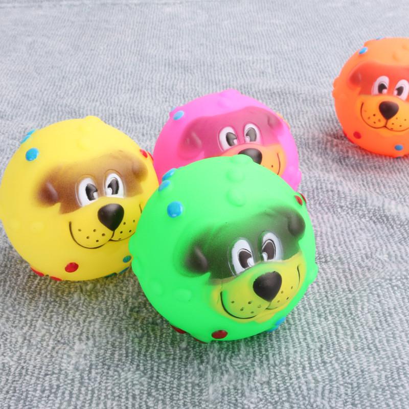 狗狗发声玩具球狗脸球塘胶玩具小号宠物用品