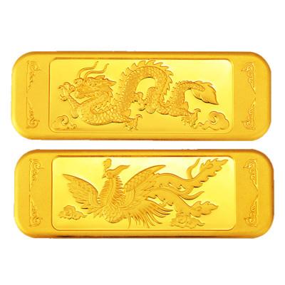 【中國黃金】99999龍鳳金條高端工藝婚嫁金條 投資收藏系列 足金 China Gold