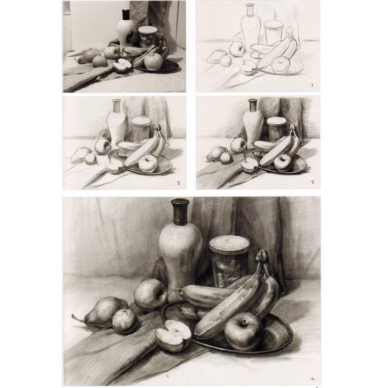正版 美术辅导教材 照片写生 组合静物素描 紧跟教学进度 基础系统
