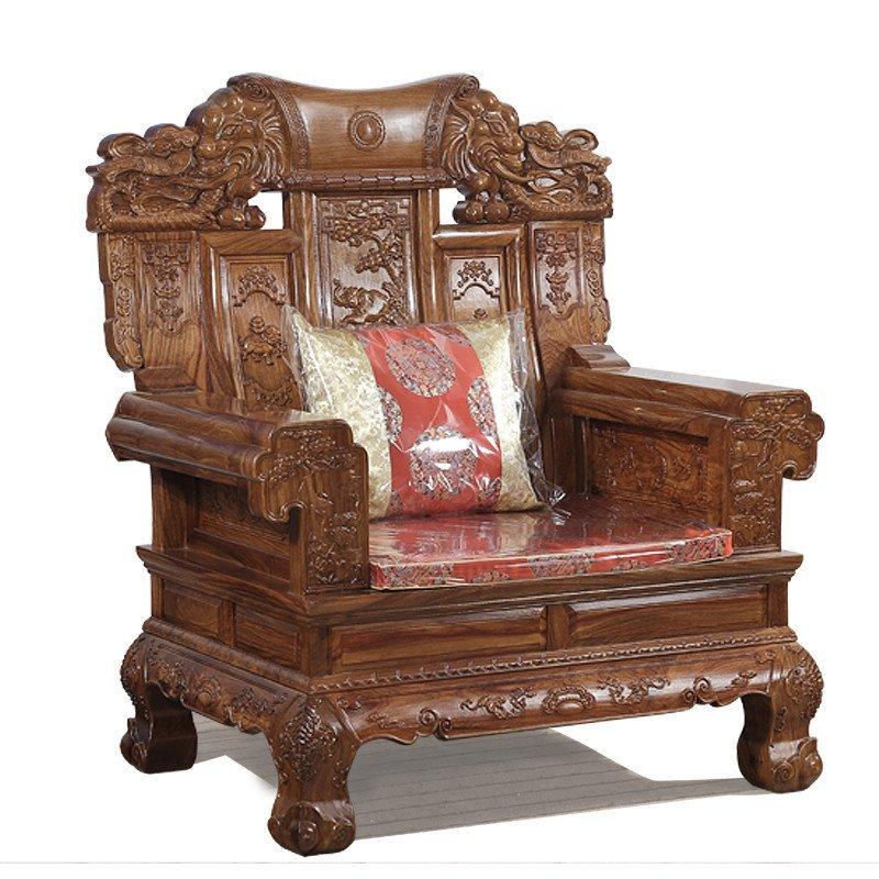 集一美红木家具红木沙发 刺猬紫檀木沙发六件套/13件套沙发 实木沙发