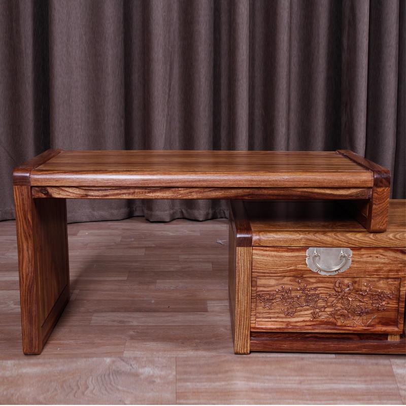琪梦红木家具刺猬紫檀电视柜新中式电视柜2.3米实木组合雕花厅柜