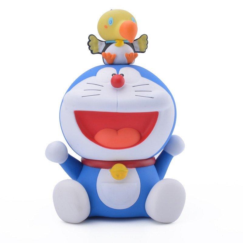 机器猫哆啦a梦手办叮当猫公仔纪念q版玩偶摆件玩具 奇迹鸟18cm