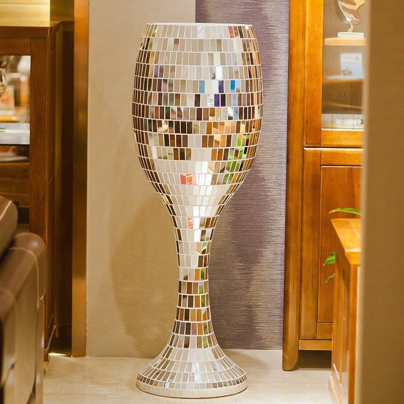 包邮现代欧式玻璃婚庆落地大花瓶 简约时尚客厅装饰品电视柜摆件 l18