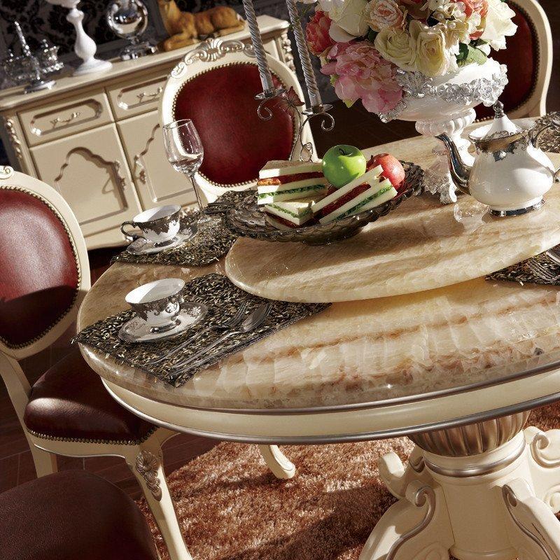 欧式大理石餐桌