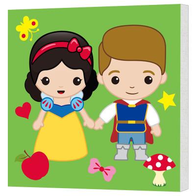 《小公主儿童精美颜料涂色画框水粉水彩填色画
