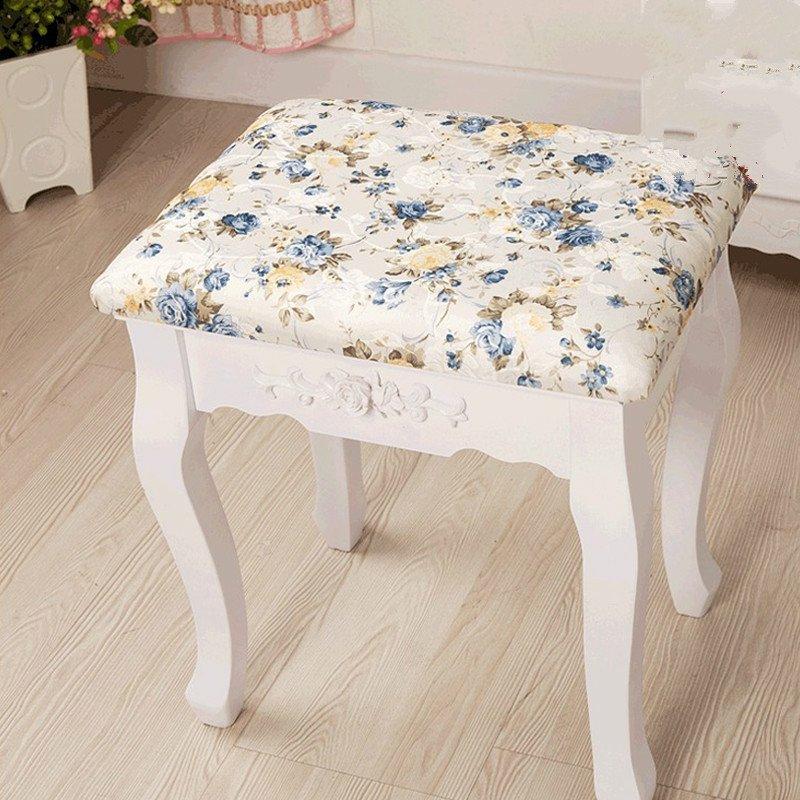 欧式梳妆凳子 小碎花化妆凳古典创意