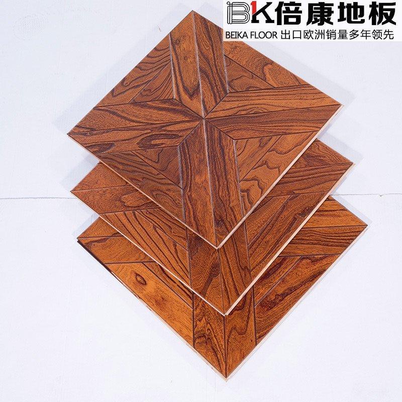 倍康地板 艺术拼花地板榆木实木多层木地板 厂家直销 ph9070