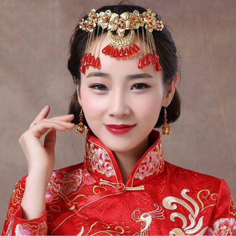 新娘头饰民族风古装新娘造型秀禾服头饰宫廷